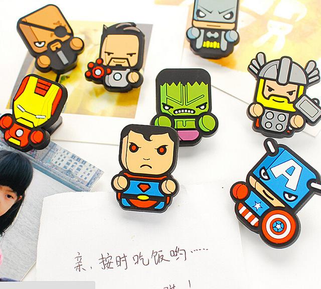 Super-Heróis-Americanos-PVC-Memo-Clipe-de-Papel-Clipe-de-Vedação-Alimentos-Clipe-de-Mesa-Artesanato.jpg_640x640