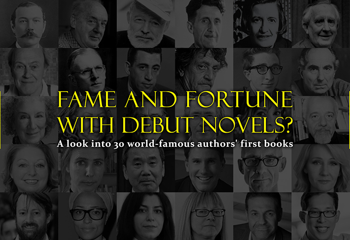 30 World Famous Authors Debut Novels Kotobee Blog