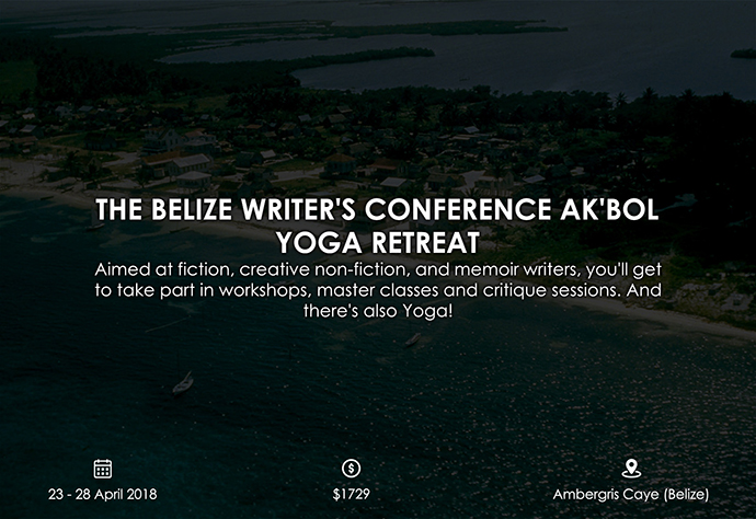 best retreats and workshops for fiction writers 2018 - The Belize Writer's Conference joeygarcia.com