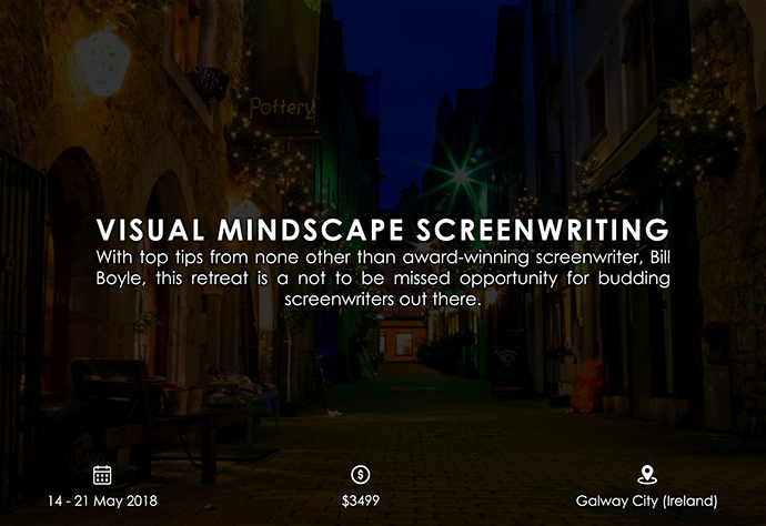 best retreats and workshops for fiction writers 2018 - Visual Mindscape Screenwriting miaterraretreats.com