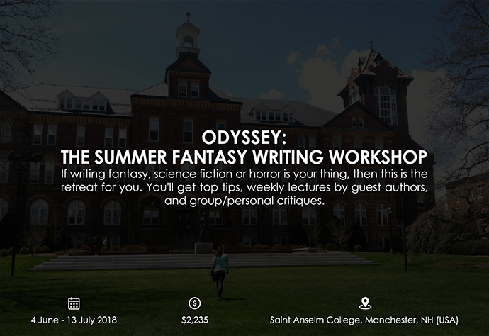 best retreats and workshops for fiction writers 2018 - Odyssey: The Summer Fantasy Writing Workshop odysseyworkshop.org