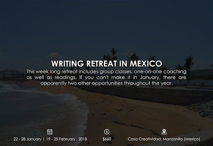 best retreats and workshops for fiction writers - Writing Retreat in Mexico vswwritingretreats.wordpress.com