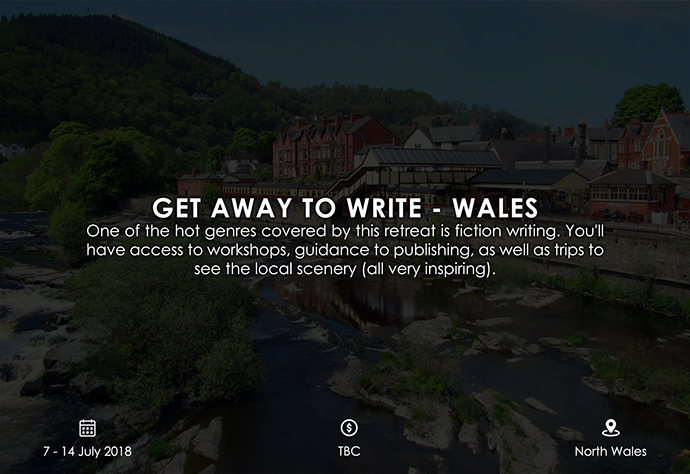 best retreats and workshops for fiction writers 2018 - Get Away to Write – Wales murphywriting.com