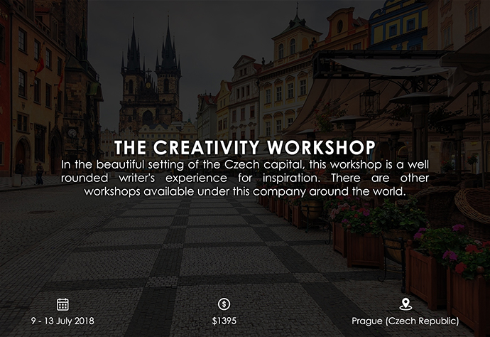 best retreats and workshops for fiction writers 2018 - The Creativity Workshop creativityworkshop.com