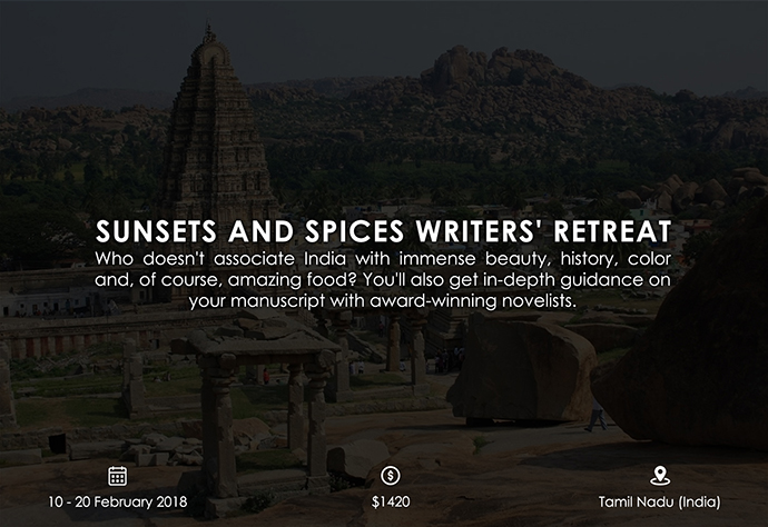 best retreats and workshops for fiction writers - Sunsets and Spices Writers' Retreat hazelmanuel.net
