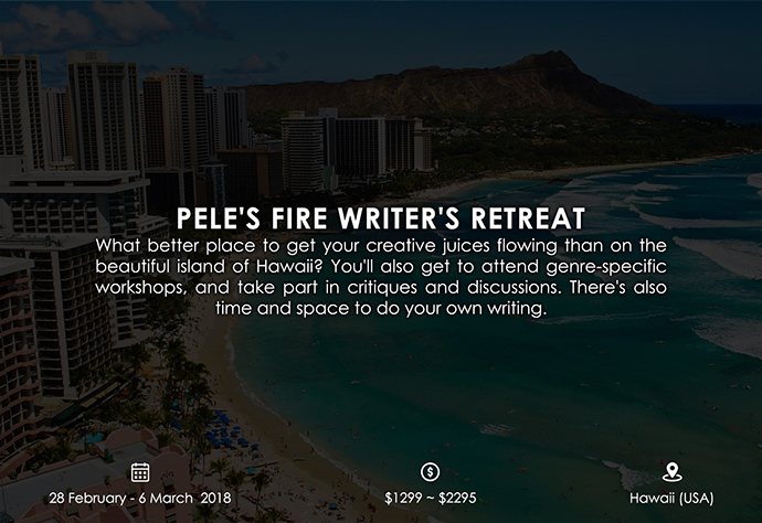 best retreats and workshops for fiction writers - Pele's Fire Writer's Retreat pelesfire.com