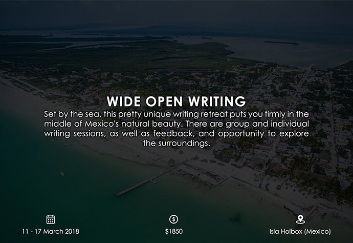 best retreats and workshops for fiction writers - Wide Open Writing wideopenwriting.com