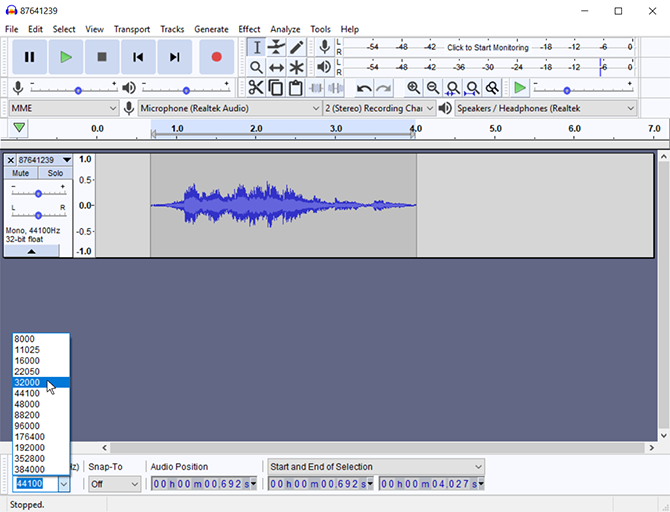 3 optimize audio file frequency