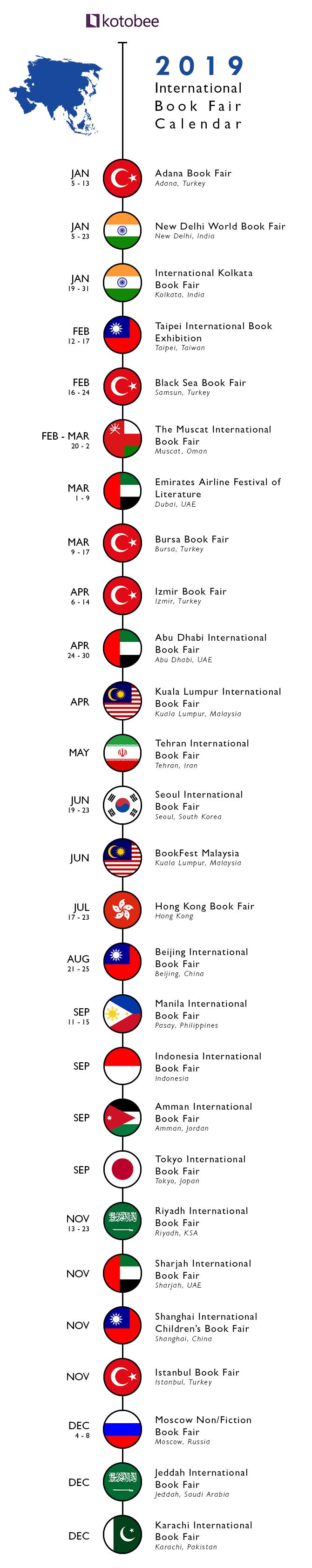 2019 Asia Book fair Calendar