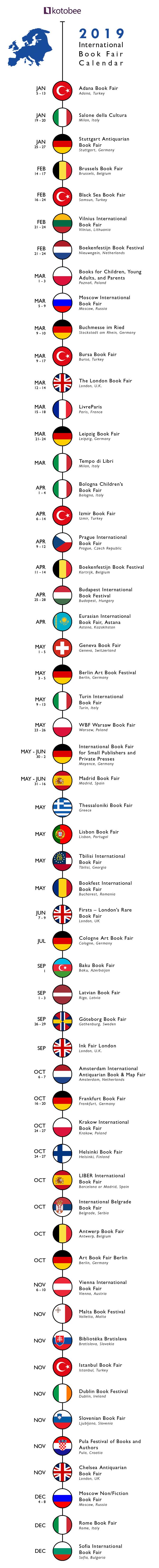 2019 Europe Book fair Calendar
