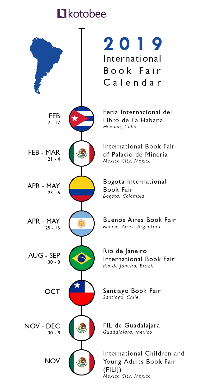 2019 South America Book fair Calendar