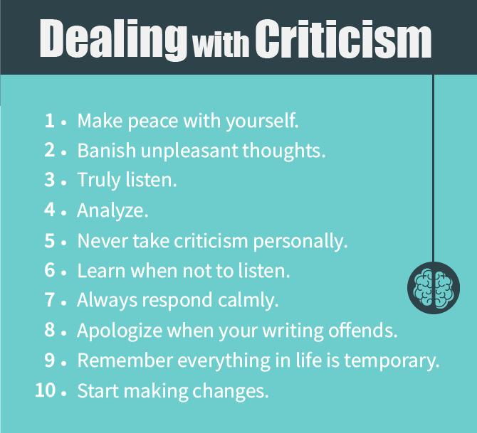 dealing criticism