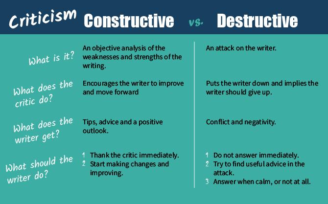 constructive vs destructive criticism