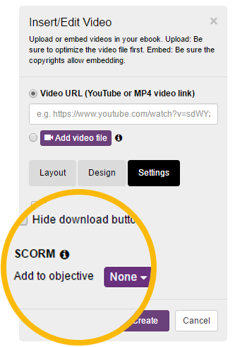 select a scorm objective kotobee