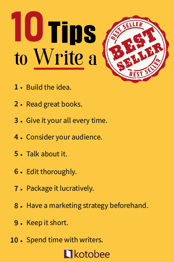 10 tips to write a bestseller