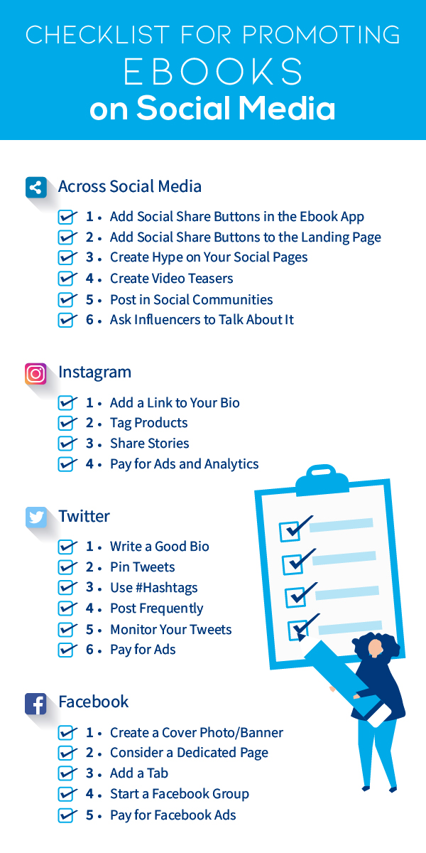 checklist to promote ebooks on social media